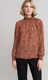 Alexandria Blouse - Burnt Orange