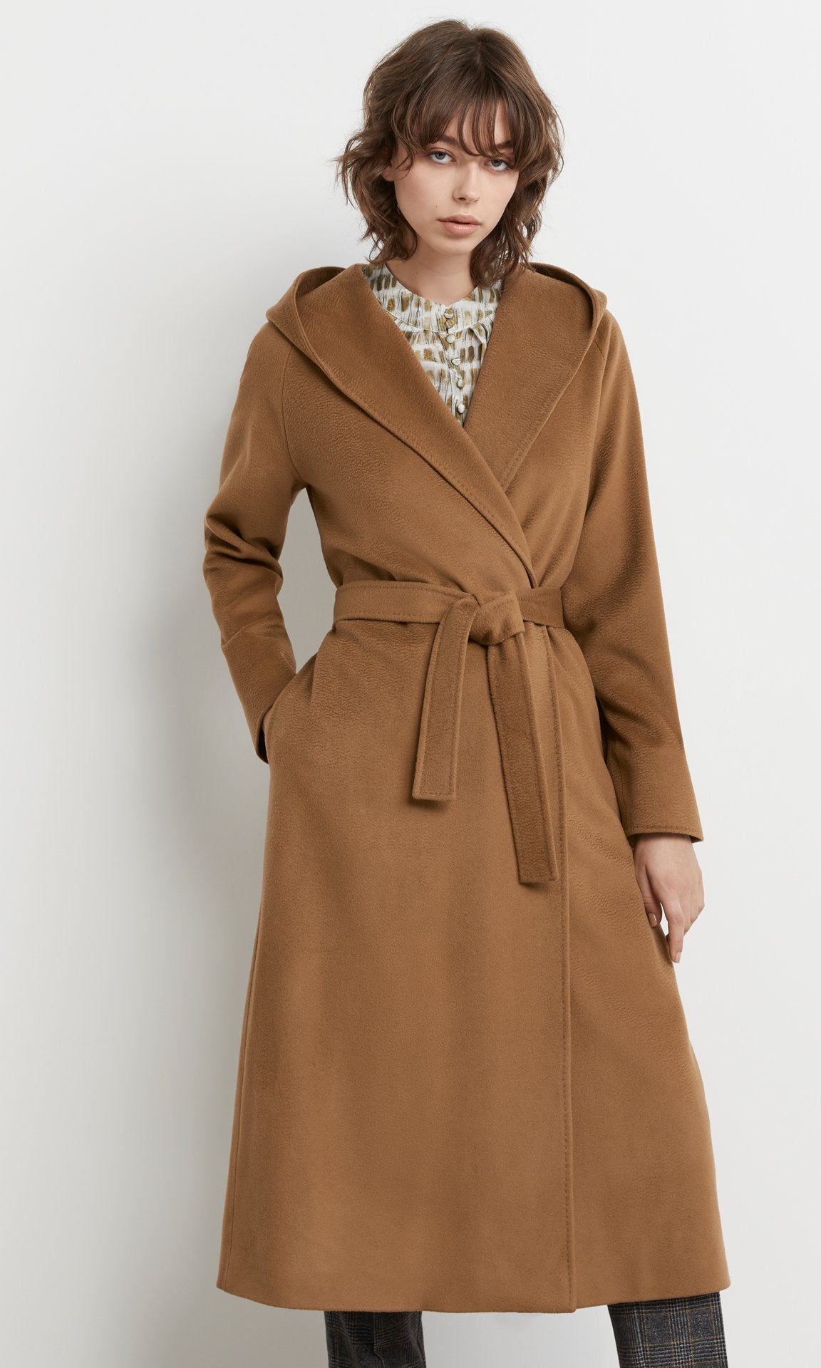 Drummond Hooded Coat Camel