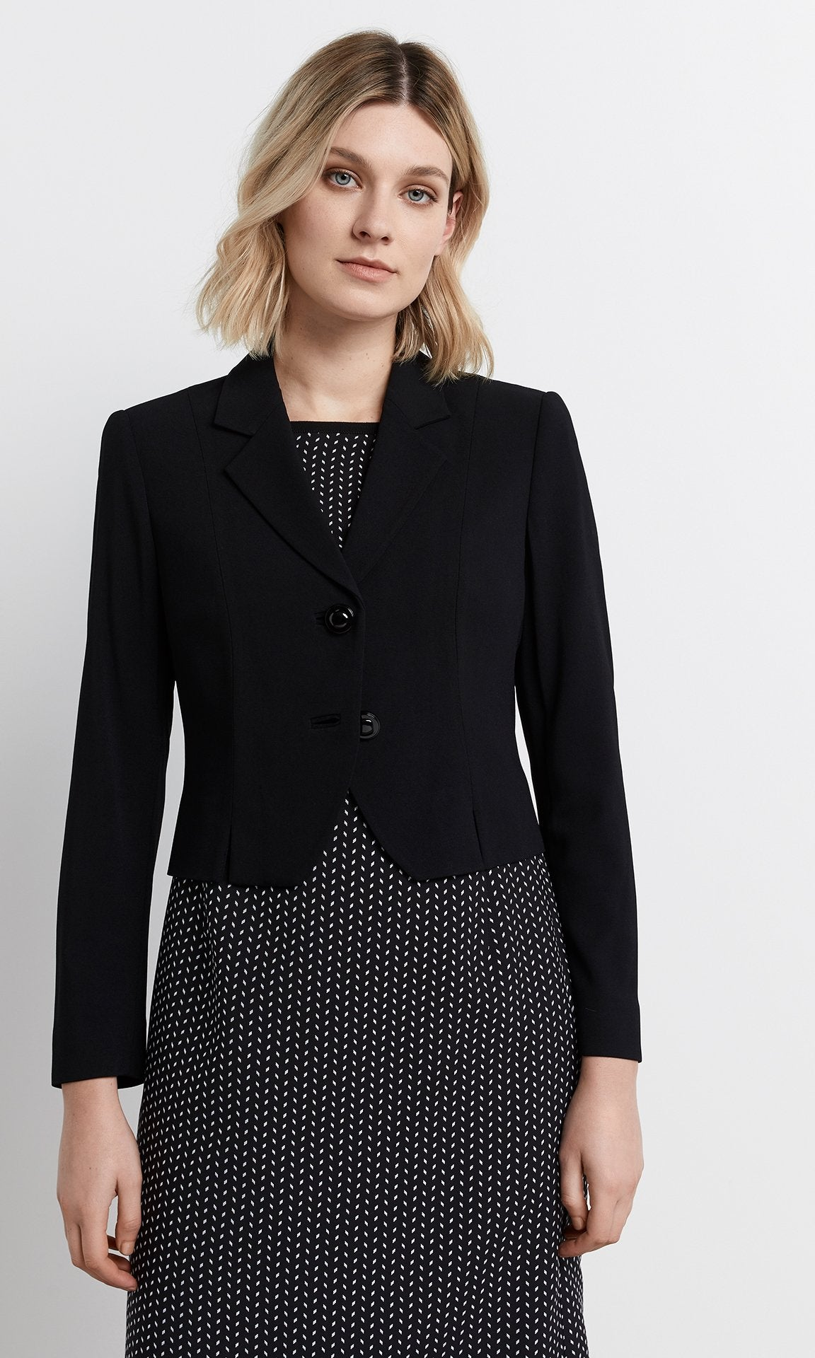 Elena Cropped Jacket - Black