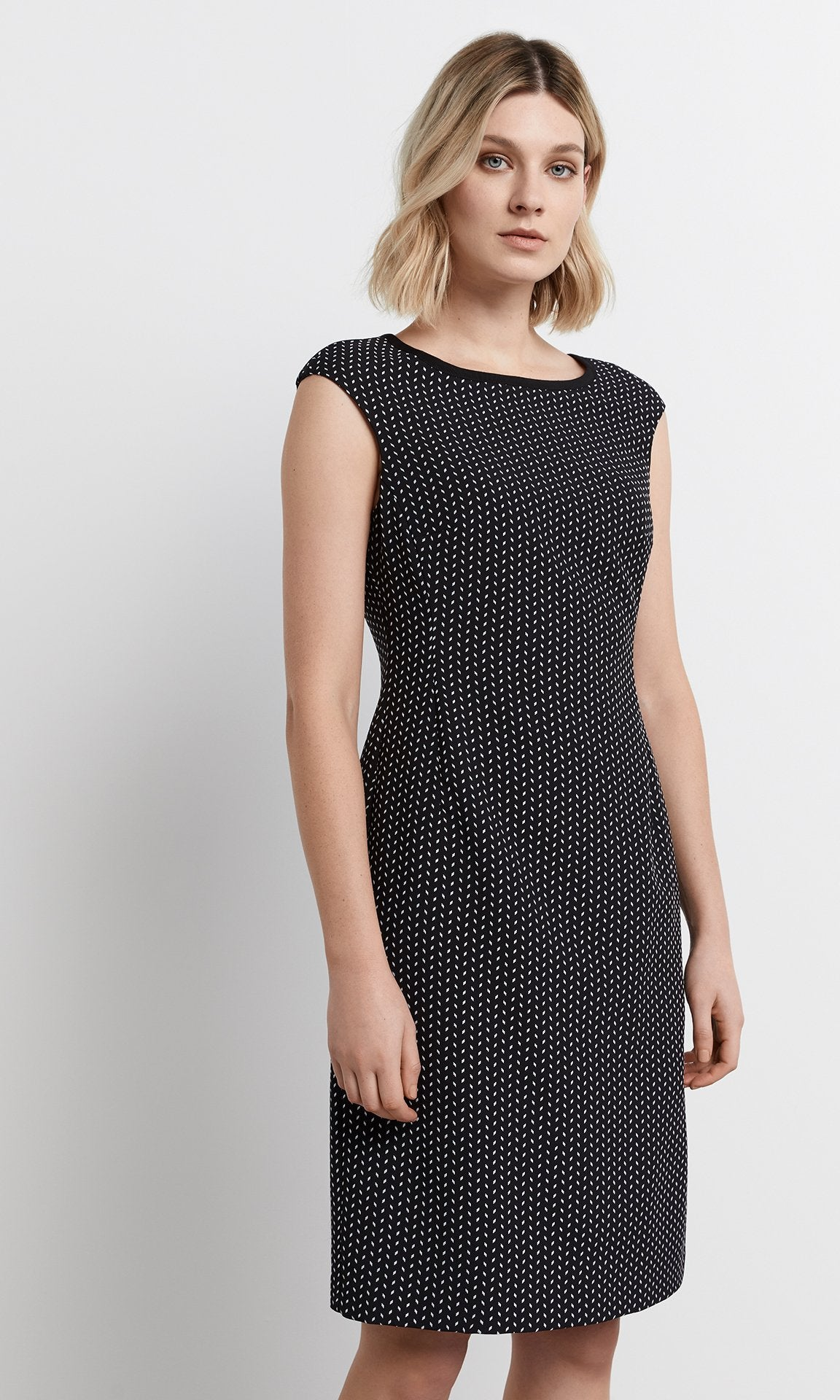 Salina Dress - Blk/White
