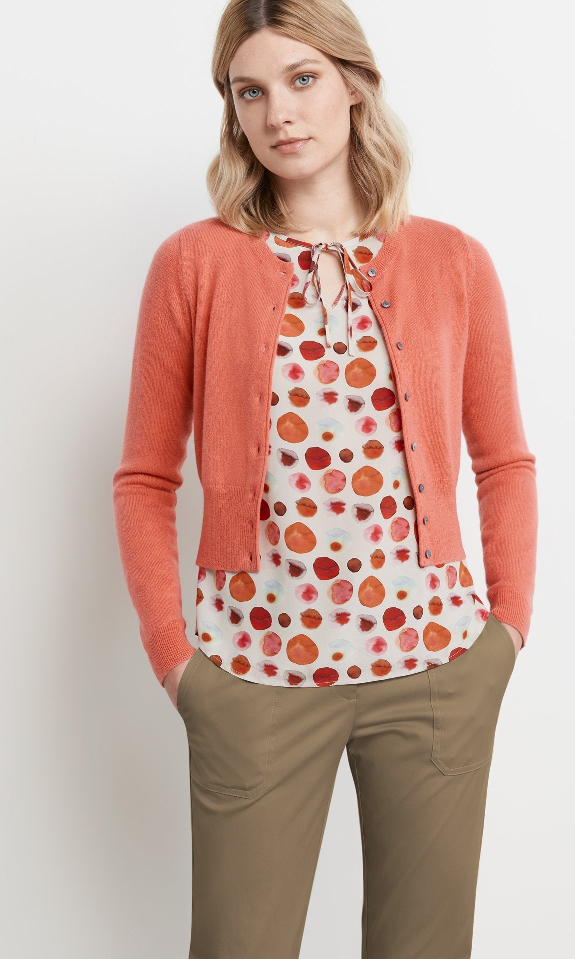 Campbell Cardigan - Coral