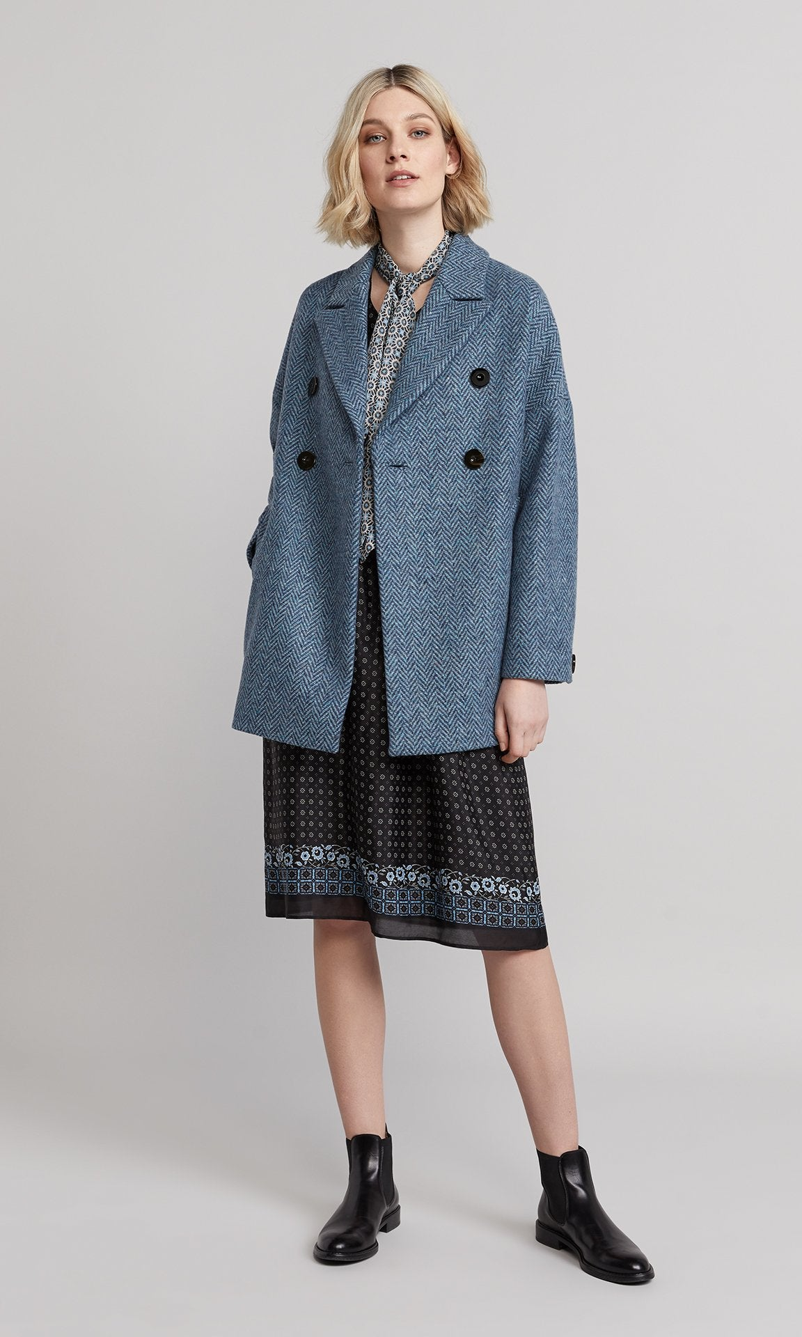 Marlow Coat - Blue