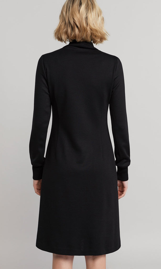 Elmore Rollneck Dress - Black