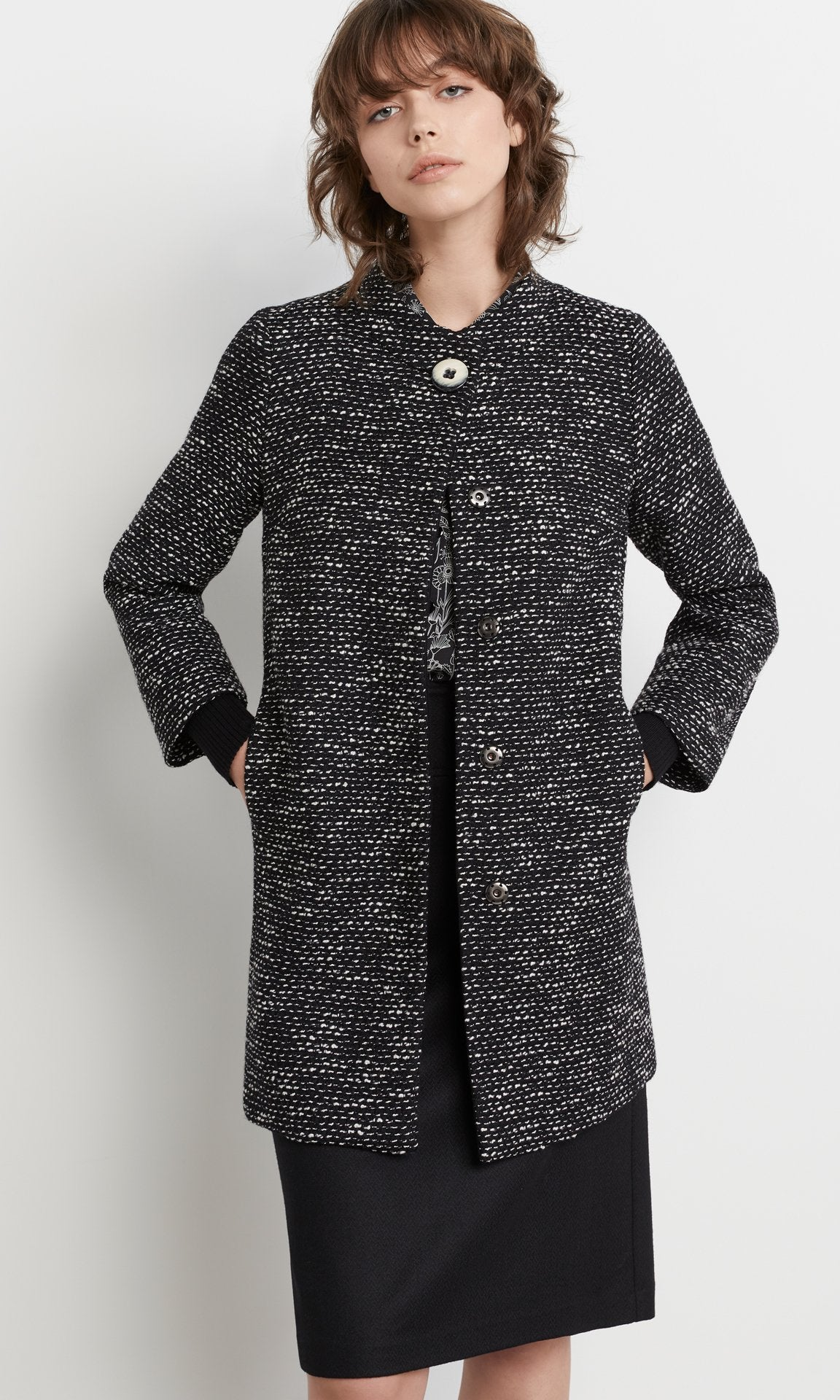 Bogart Coat Blk/White