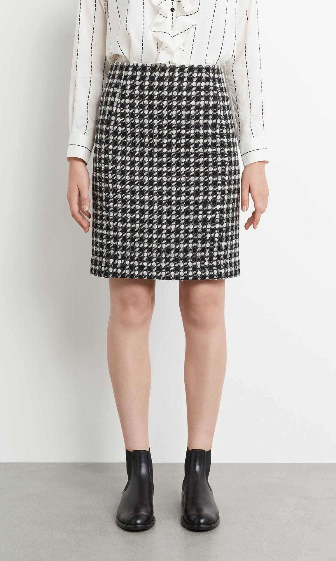Letitia Skirt Blk/White