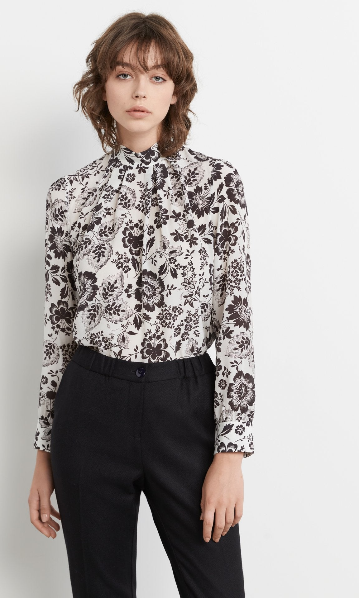Martha Blouse White/Black
