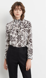 Martha Blouse - White/black