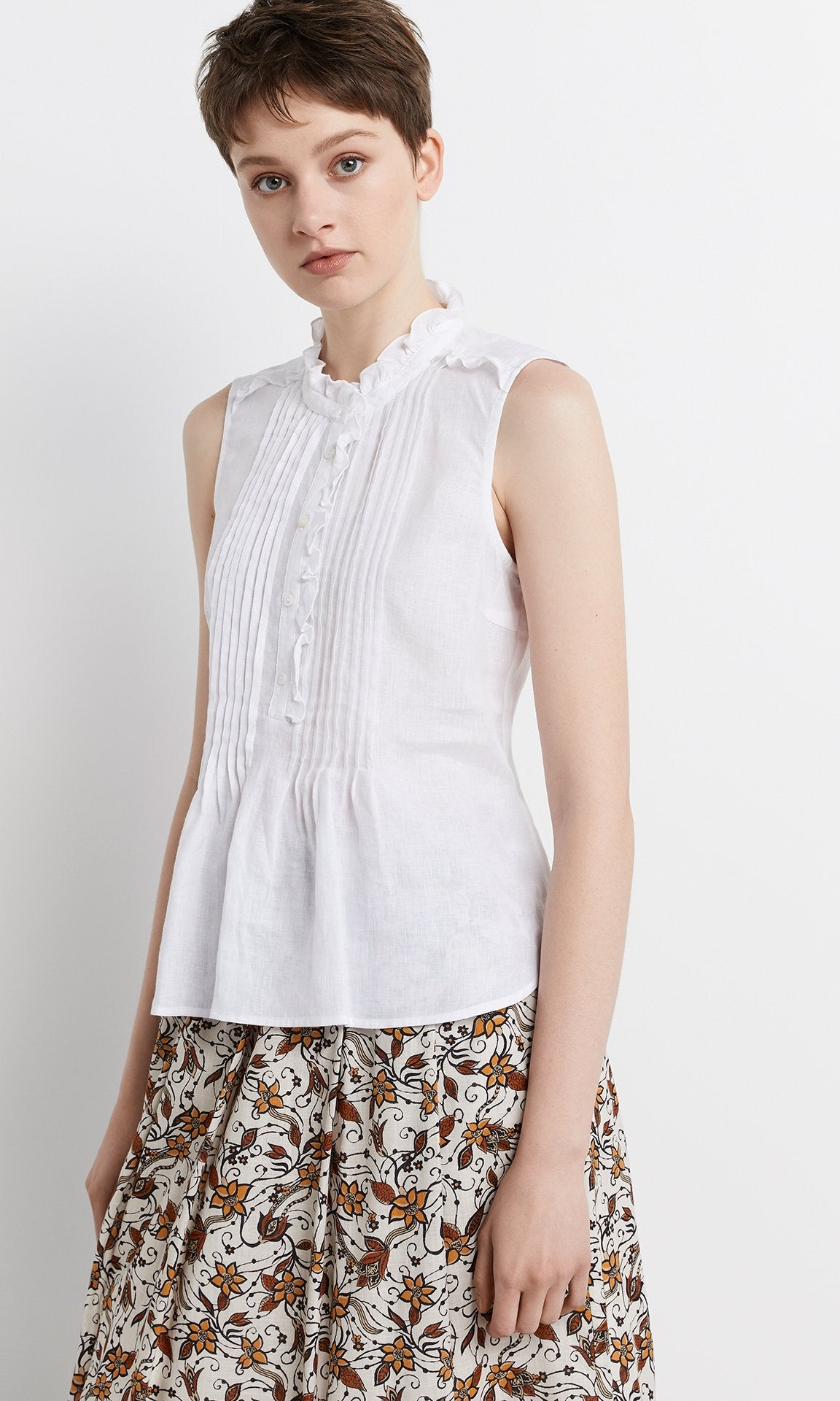 Rocca Sleeveless Blouse - White