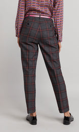 Hepworth Trouser - Charcoal/Red