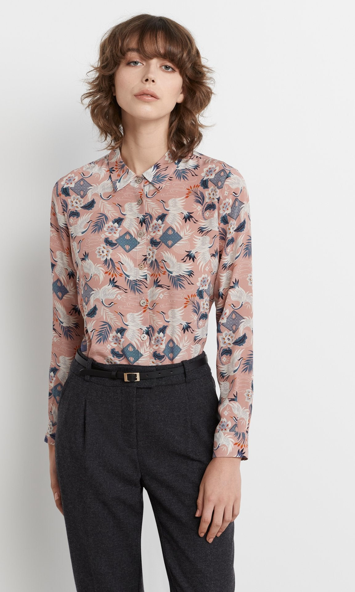 Crane Shirt - Dusty Rose