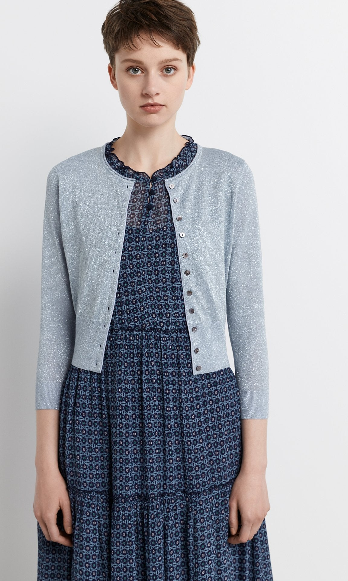 Positano Cardigan - Pale Blue