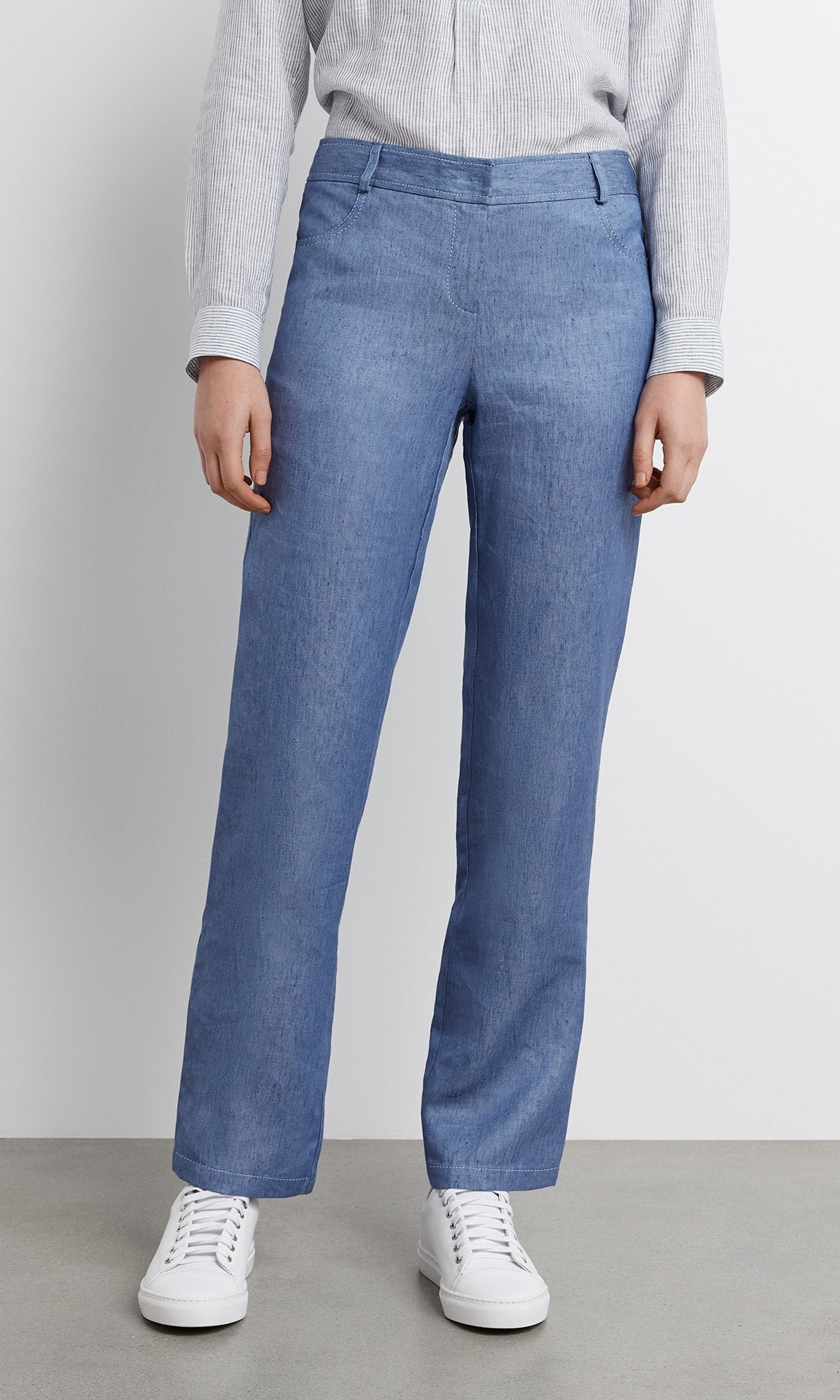 Burano Pant  - Chambray Blue