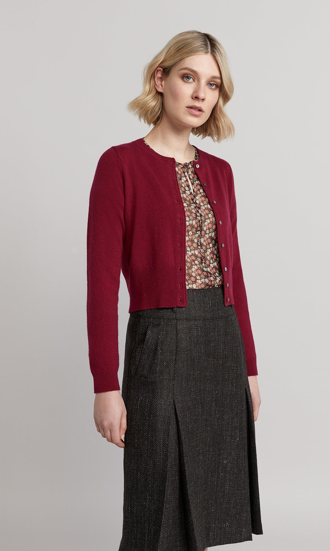Peggy Cardigan - Raspberry