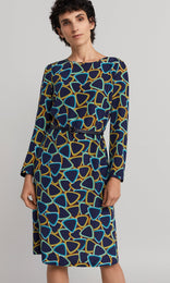 Carrington Dress - Light Navy