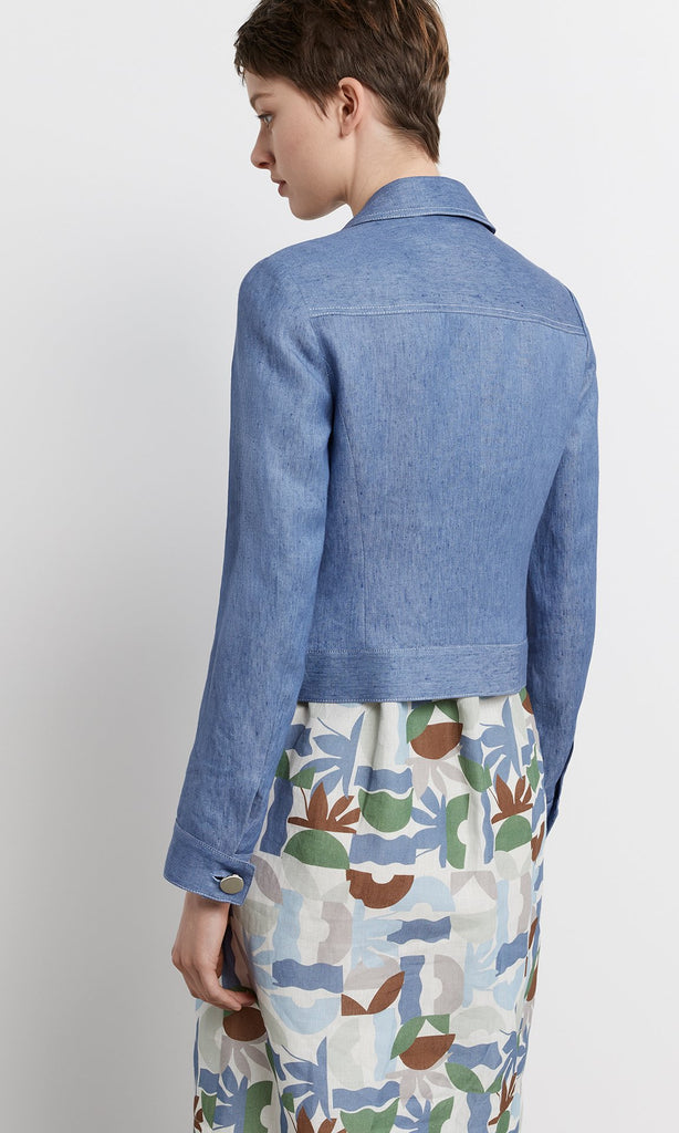 Burano Jacket - Chambray Blue