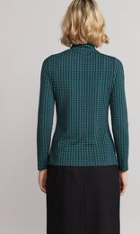 Crowley Rollneck - Navy/Emerald