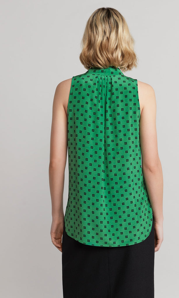 Clove Sleeveless Blouse - Emerald