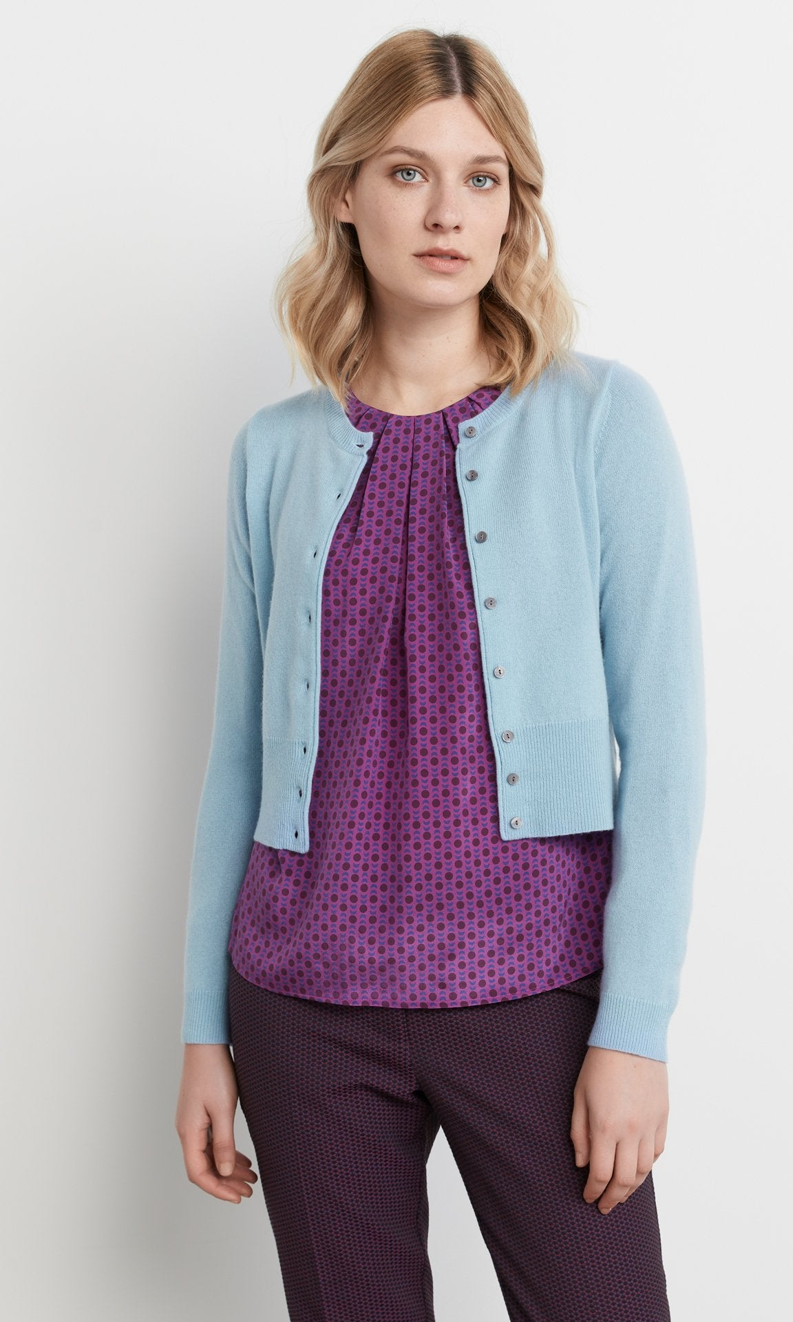 Campbell Cardigan Powder Blue
