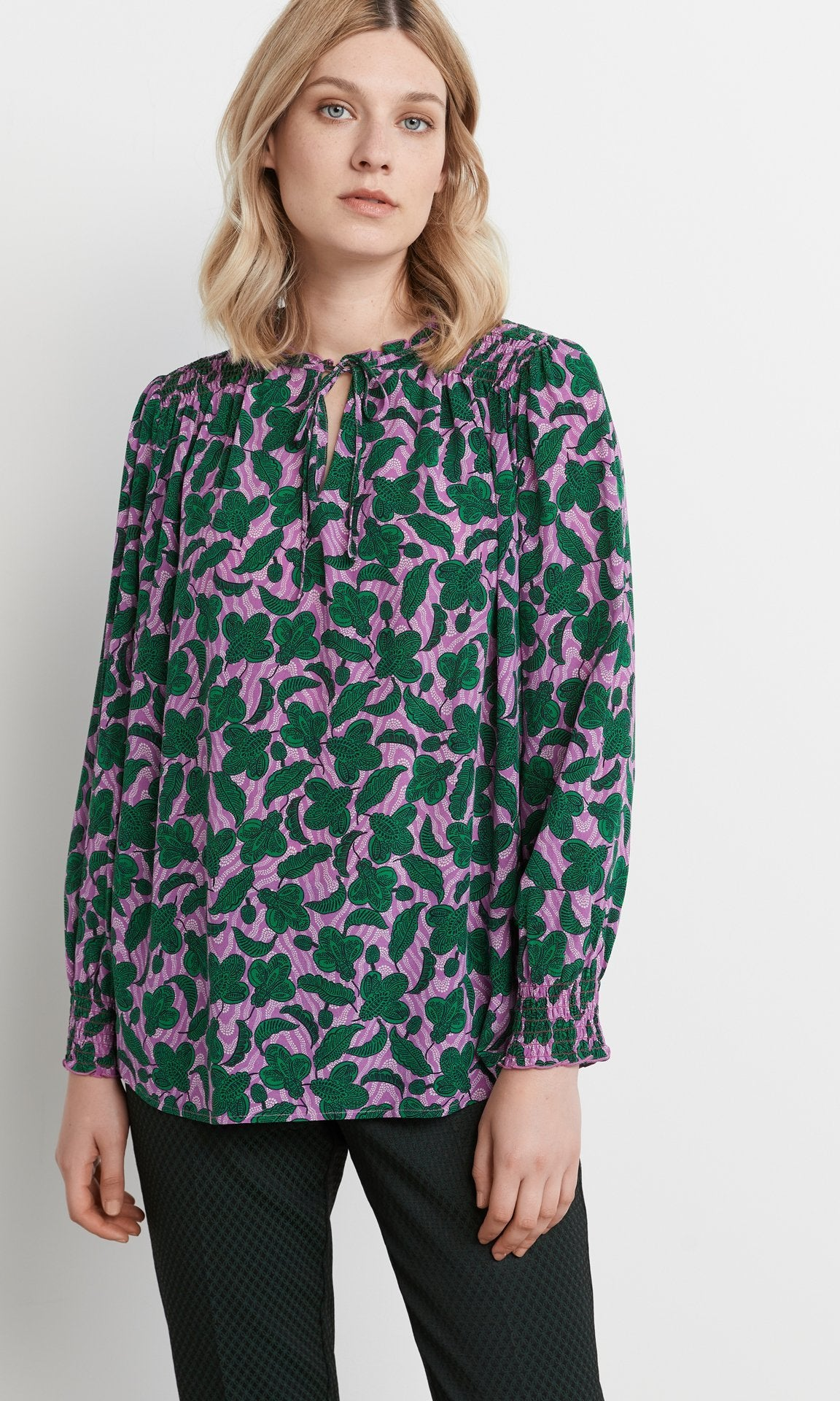 Lee Blouse Orchid/Green