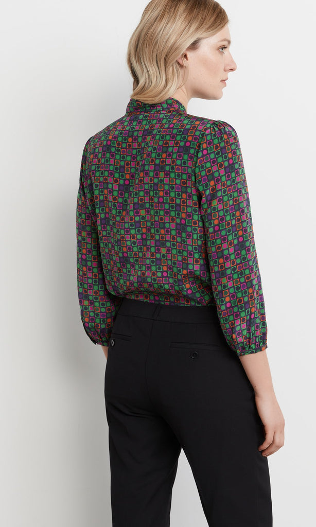 Vernon Blouse Green/Pink