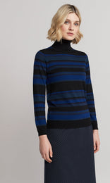 Holland Rollneck - Navy Stripe