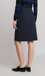 Foster Skirt - Navy/Teal