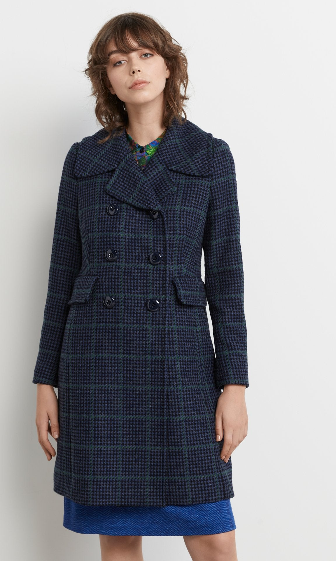 Hogarth Coat Blue/Green