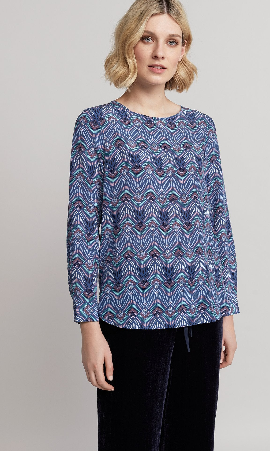 Alma Blouse - Blue
