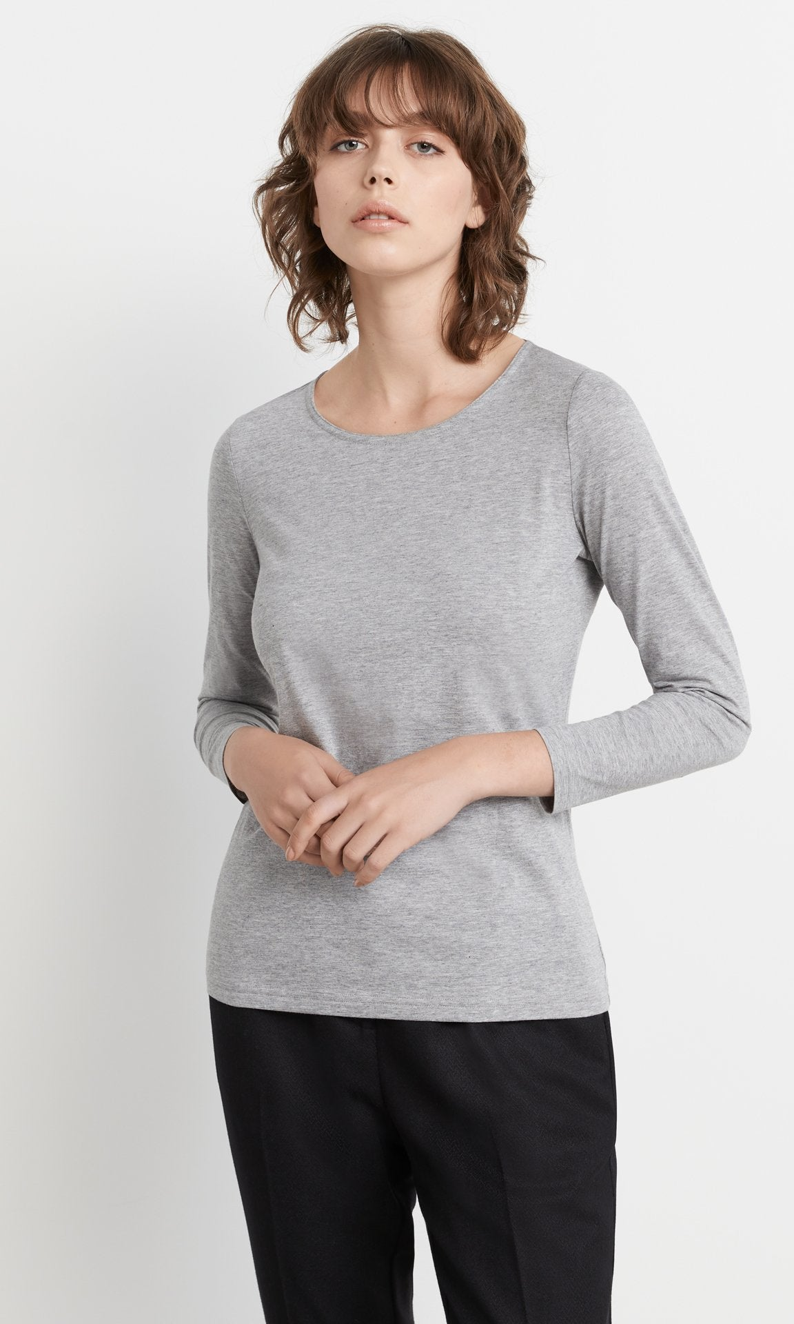 Clara Top - Grey melange