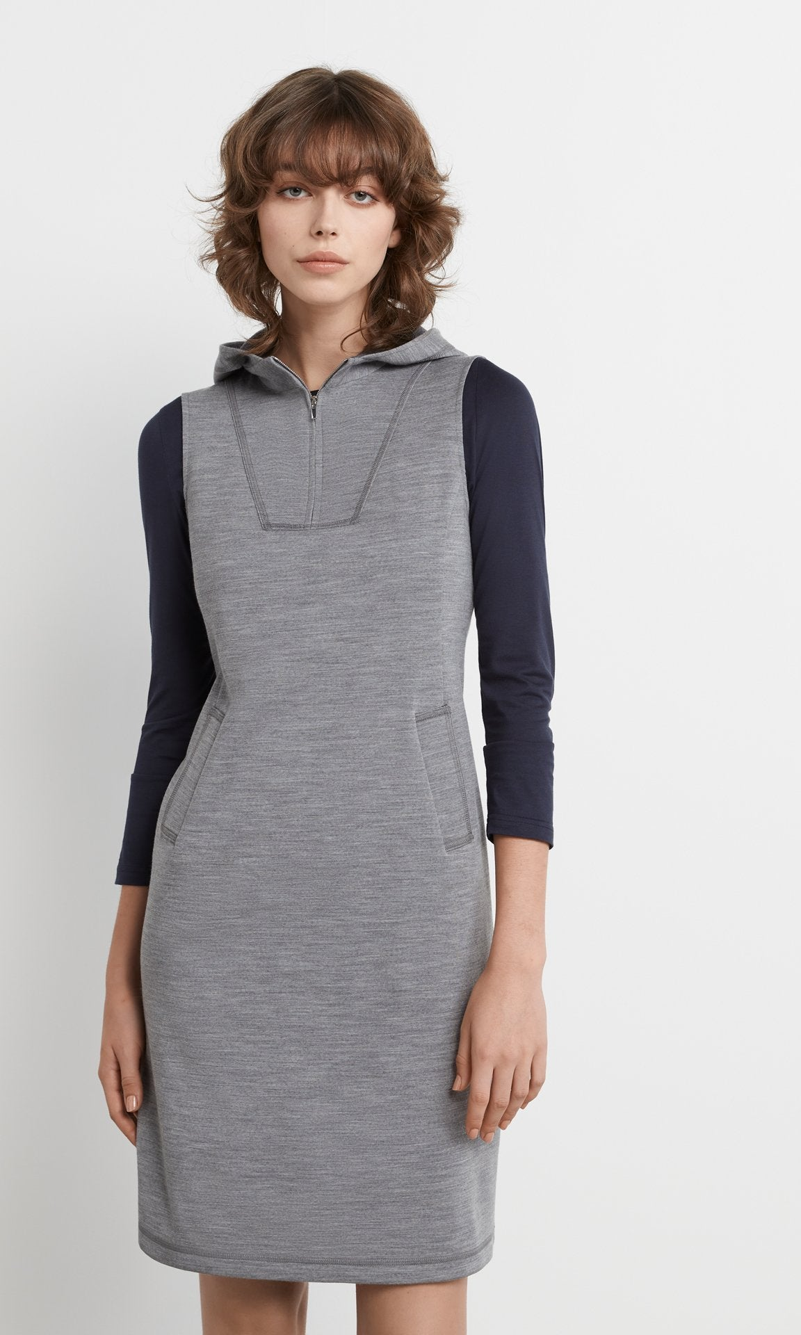 Heely Hooded Dress - Grey