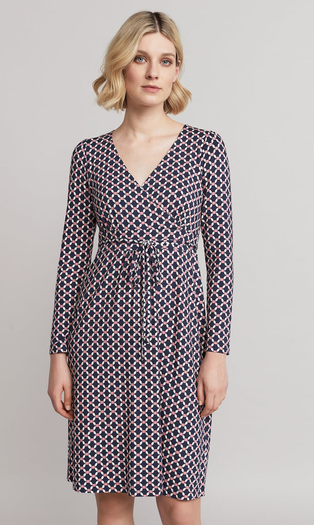 Magnolia Dress - Navy/Pink
