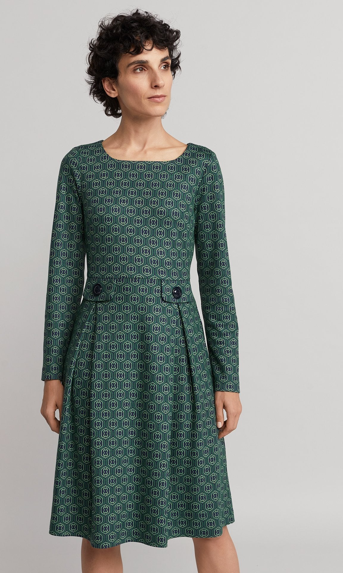 Hemlock Dress - Emerald