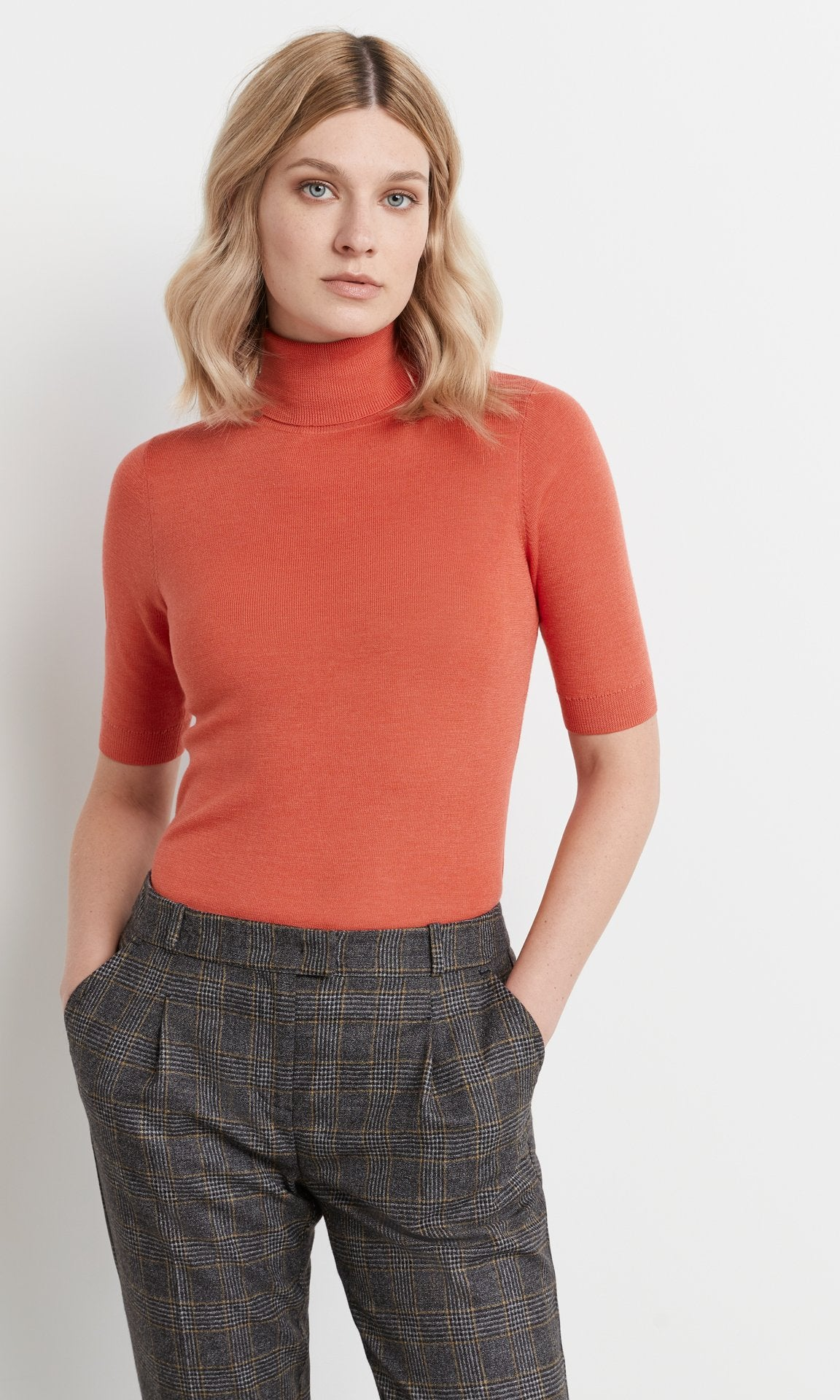Fry Short-Sleeve Rollneck Coral