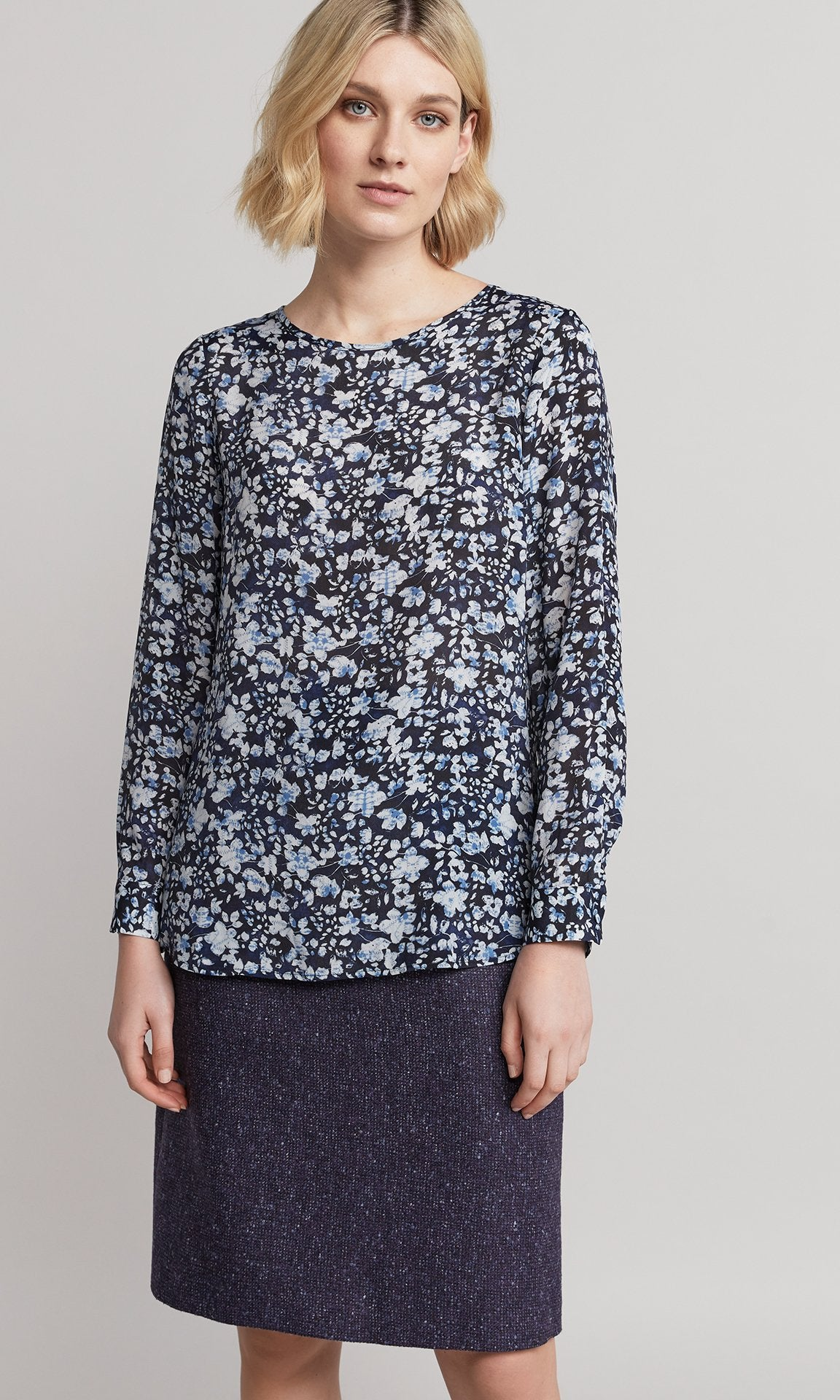 Belle Blouse - Indigo