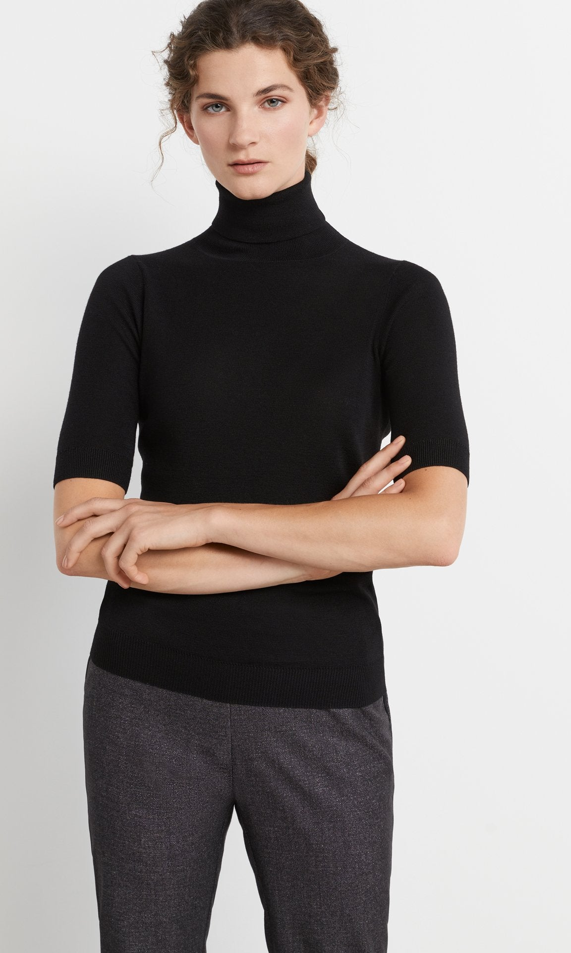 Fry Short-Sleeve Rollneck Black