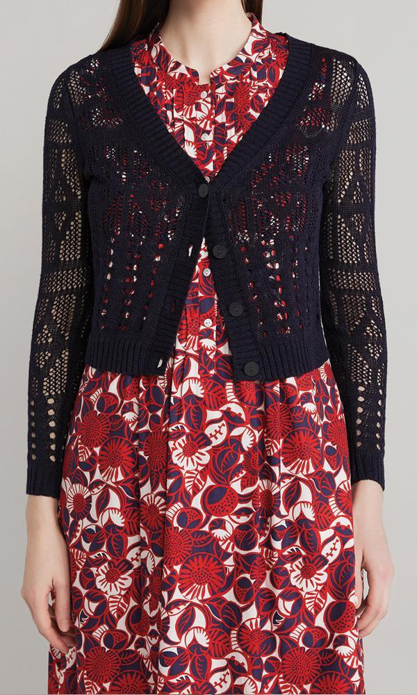 Butterfly Cardigan  - Navy