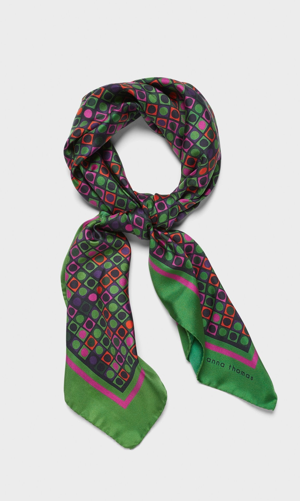 Vernon Scarf Green/Pink
