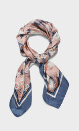 Crane Scarf Dusty Rose