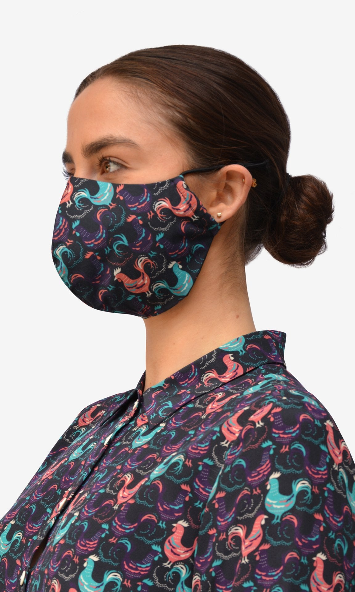 Stella Face Mask - Gallo Black