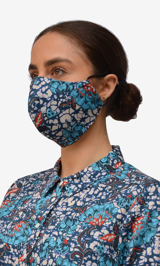 Stella Face Mask - Abstract Blue