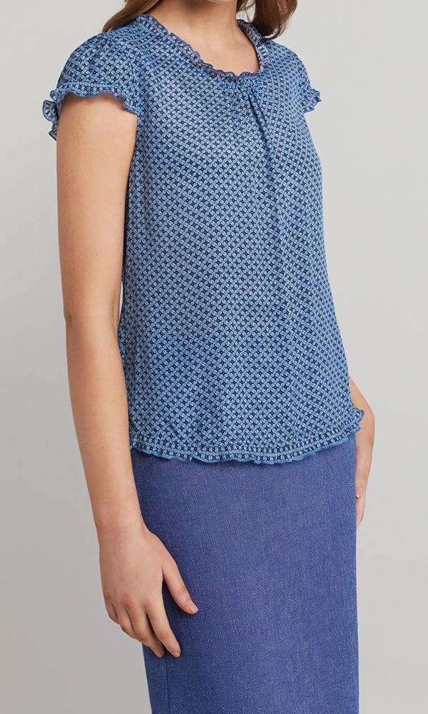 Ester Blouse  - Blue