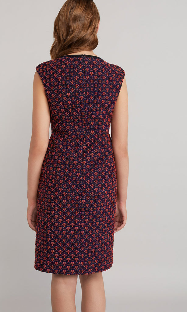 Hazel Dress - Navy/Red