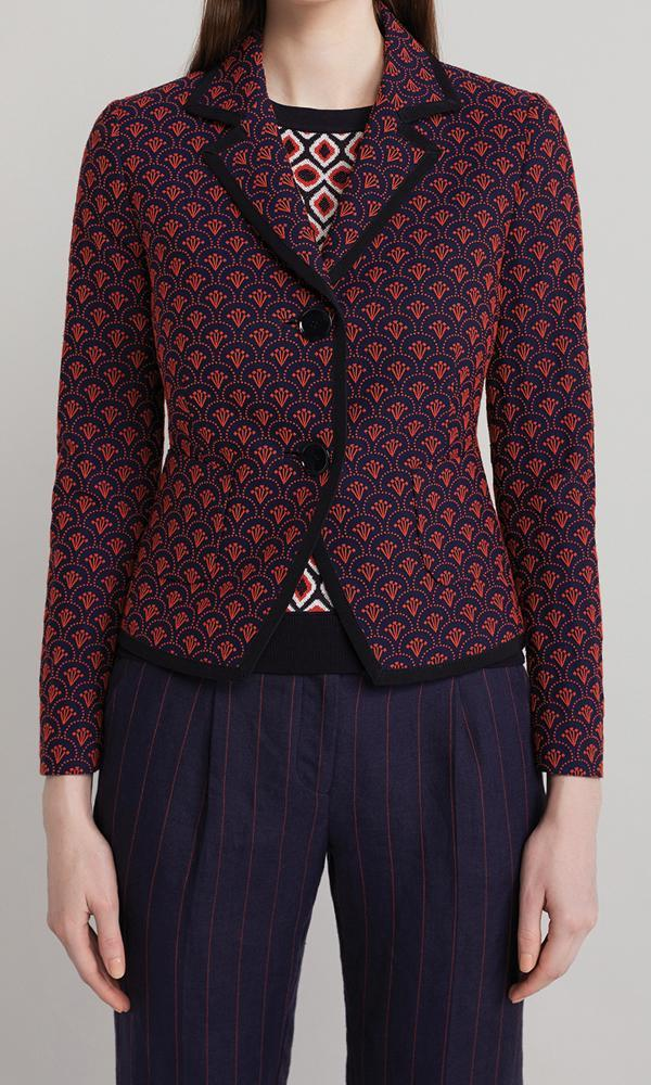Hazel Jacket  - Navy/Red