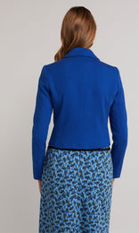 Ingrid Cropped Jacket - Blue