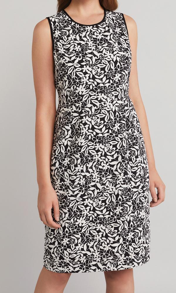 Marla Dress - Black/White