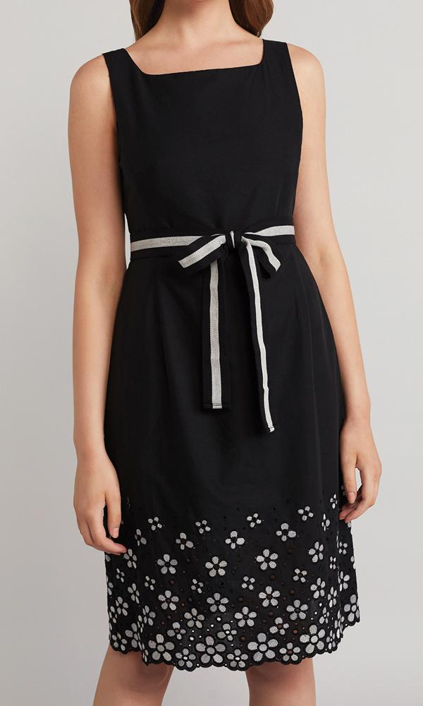 Olivia Dress - Black/White