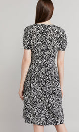 Rita Dress - Black/White