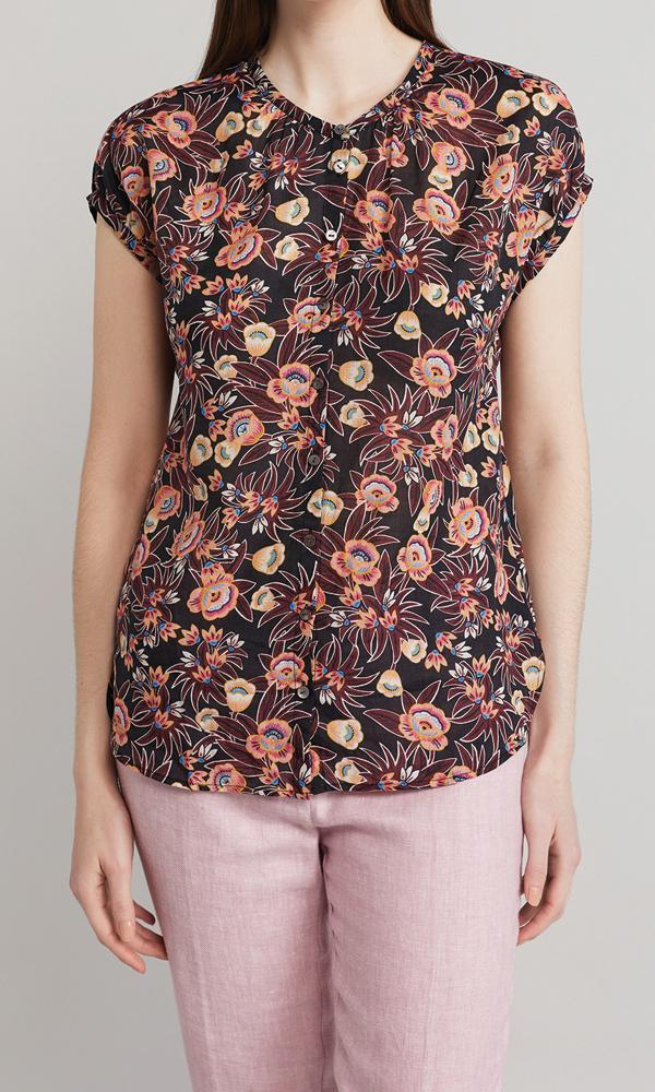 Bloom Top - Maroon