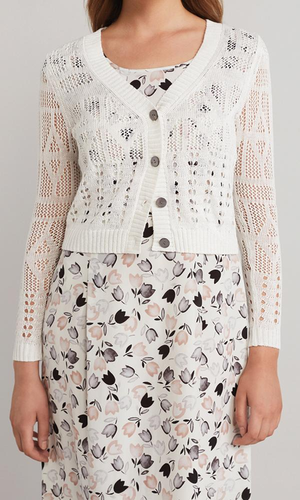 Butterfly Cardigan  - White