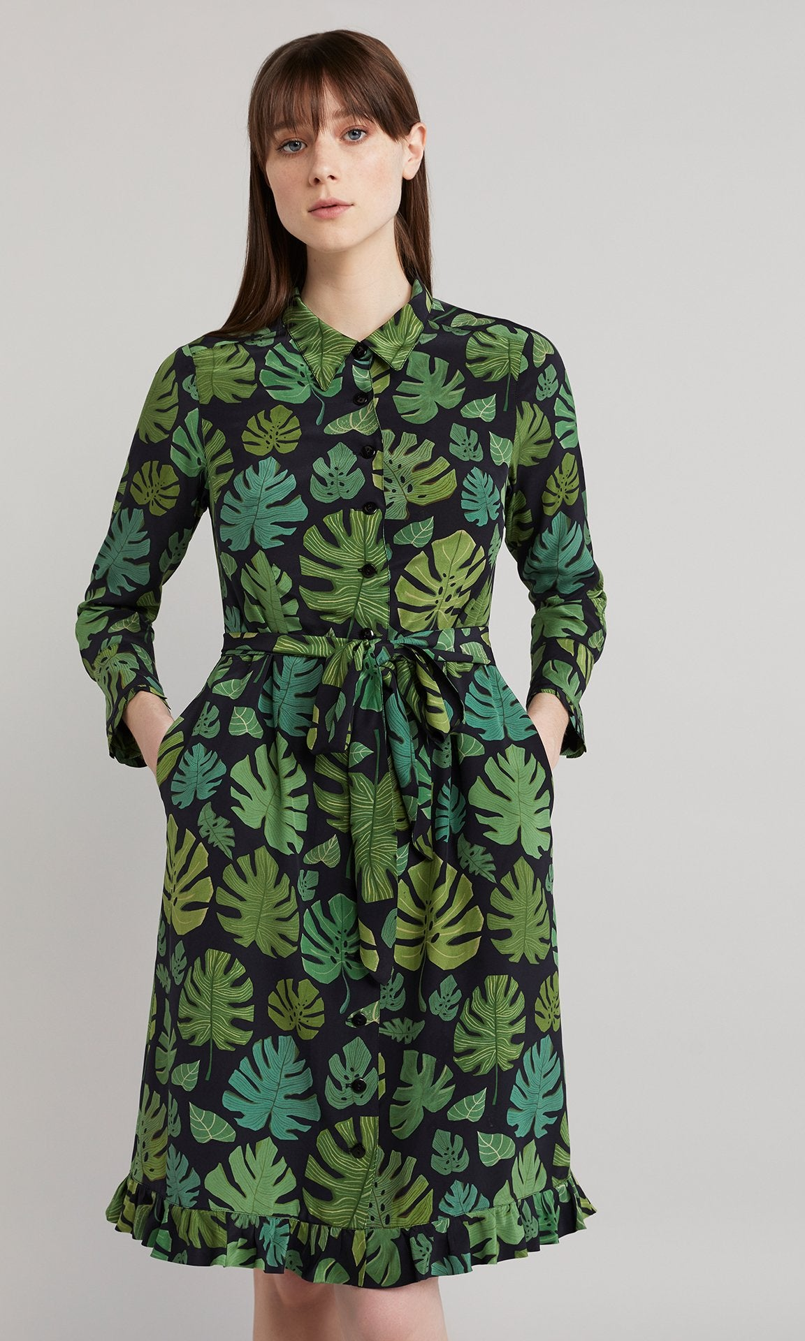Palm Dress - Leaf Green